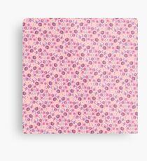 Boho Floral Bloom on soft pink Metal Print