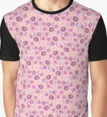 Boho Floral Bloom on soft pink Graphic T-Shirt