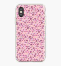 Boho Floral Bloom on soft pink iPhone Case