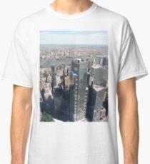 Manhattan, New York City, downtown, #Manhattan, #NewYorkCity, #downtown, #NewYork, skyscrapers, river, Hudson, bridges, streets Classic T-Shirt