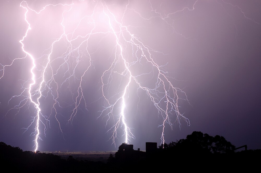 Lightning Blast over Coraki by Michael Bath