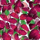 Pink Leaf Pattern 6 by hutofdesigns