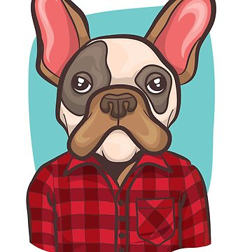 Hipster French Bulldog Graphic by UGRcollection