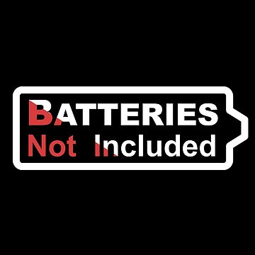 Batteries Not Included - White by gravtee
