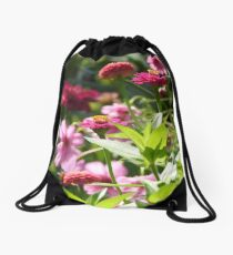 Pink Flowers and More Pink Flowers Drawstring Bag