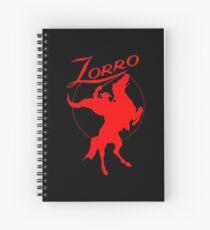 Zorro! (Scarlet Edition) Spiral Notebook
