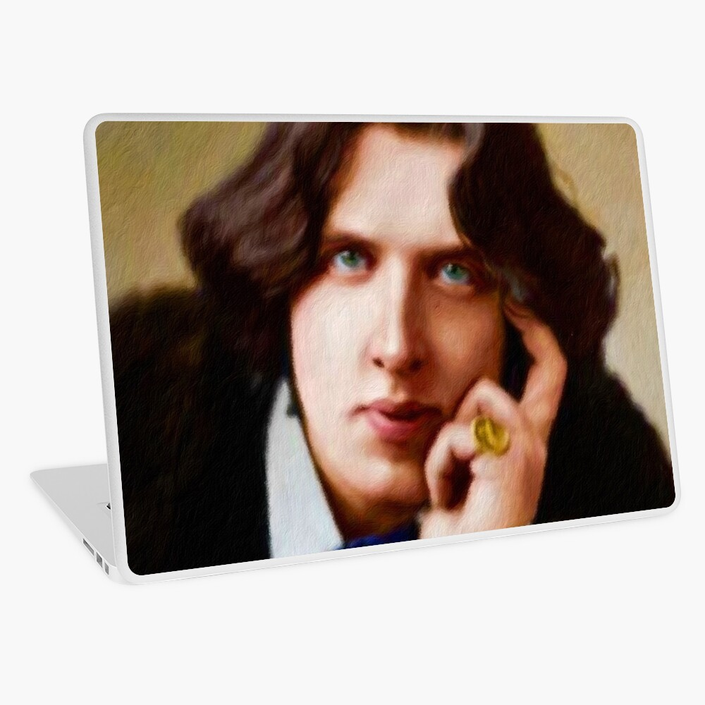 Oscar Wilde, Literary Legend Laptop Skin