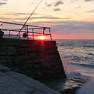 Sunset on the Wall by LumixFZ28