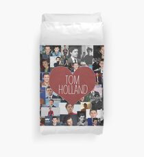 I love Tom Holland collage Duvet Cover