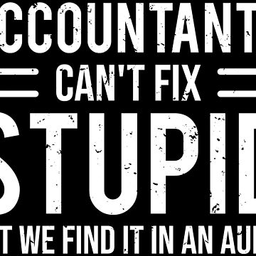 Funny Accountants Can't Fix Stupid Audit T-shirt by zcecmza