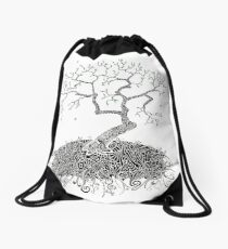 A Doodle Planted Drawstring Bag