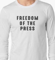 Freedom of The Press Shirt 1st Amendment Shirt Long Sleeve T-Shirt