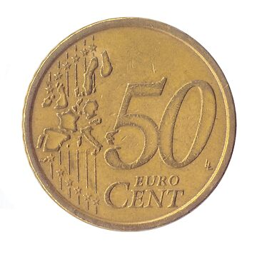 50 Euro Cents (Half a Euro) Nordic gold coin (Italy) by PhotoStock-Isra