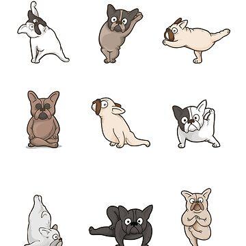 French Bulldog Yoga Poses Graphic by UGRcollection