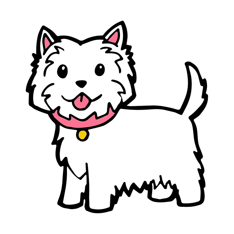Cute Westie Dog By Phoxydesign