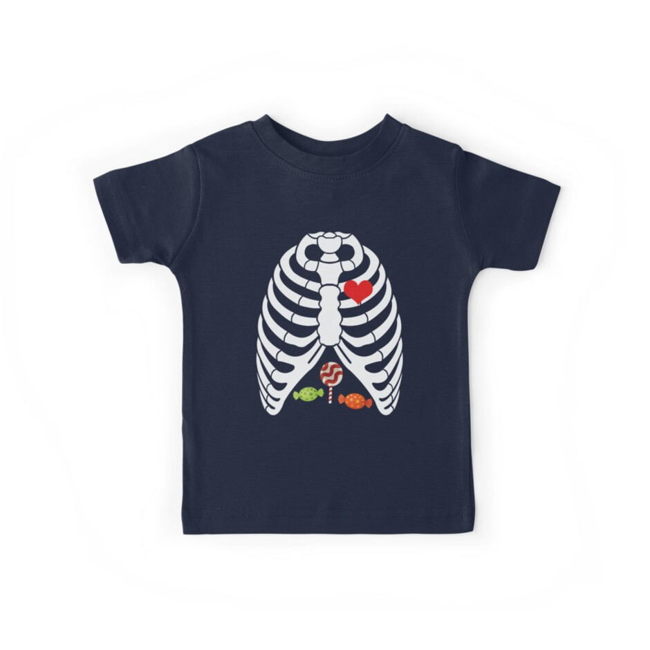bf55121f4a Halloween shirt toddler candy rib-cage x-ray skeleton
