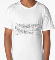 Sammi Anonymous Letter Long T-Shirt