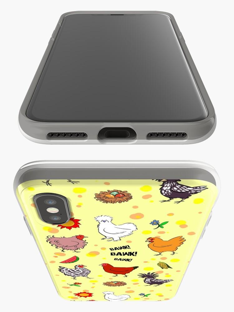 Alternative Ansicht von Nette nahtlose Hühnermusterkarikatur iPhone-Hülle & Cover