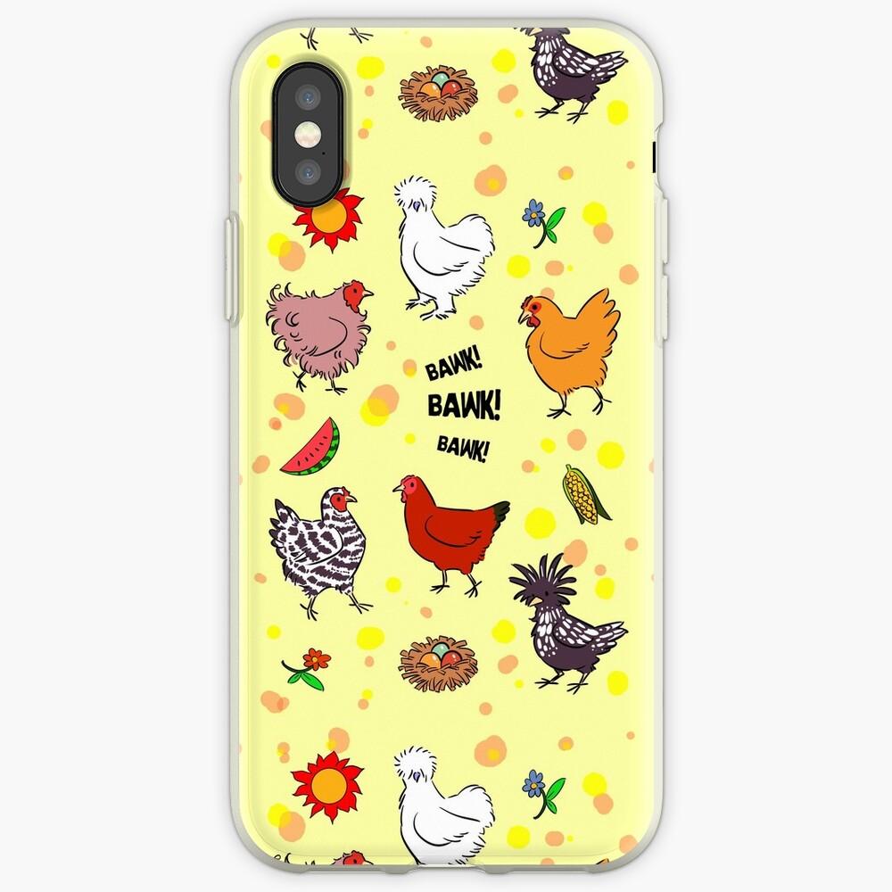 Nette nahtlose Hühnermusterkarikatur iPhone-Hülle & Cover