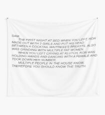 Sammi Anonymous Letter Wall Tapestry