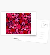 Adorable Watercolor Texture Bright Girly Design  Postcards