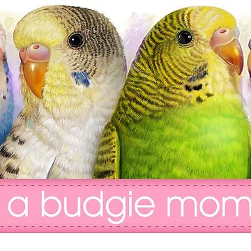Budgerigars realistic painting by lifewithbirds