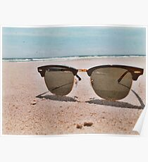 Sunglasses & Beach Poster