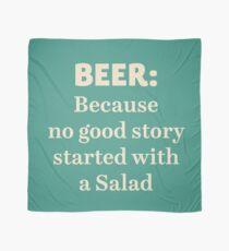 Beer illustration quote, vintage Pub sign, club, nightclub, restaurant, fine art, mancave, food, drink typography Scarf