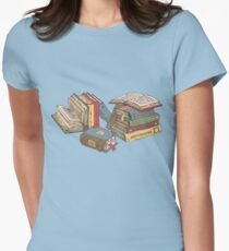 Books Women's Fitted T-Shirt