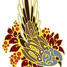 Diamond dove bird tribal tattoo  by lifewithbirds