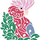 Galah cockatoo tribal tattoo pink rose-breasted parrot by lifewithbirds