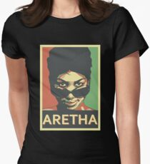 Aretha Franklin Shades Women's Fitted T-Shirt