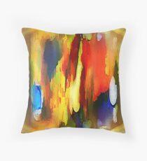Abstraktes in Farbe Throw Pillow