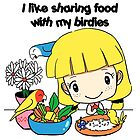 I like sharing food with my birdies by lifewithbirds