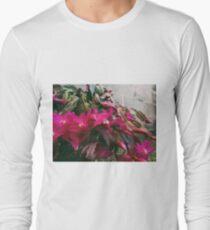 Floral concrete scape Long Sleeve T-Shirt