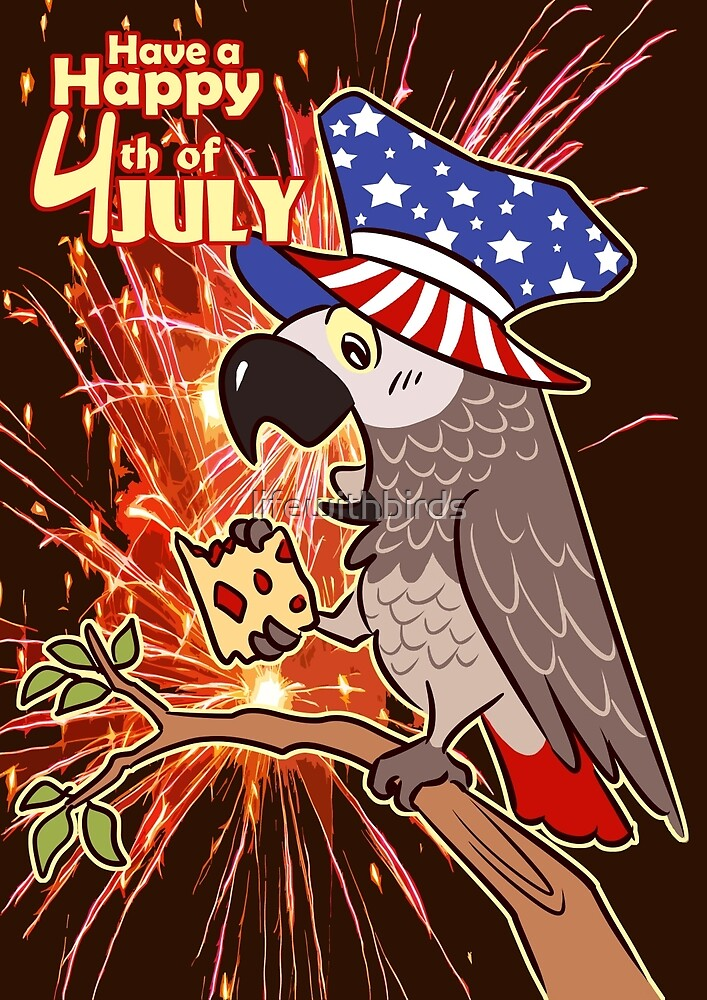 Bird USA Independence day 4th July by lifewithbirds