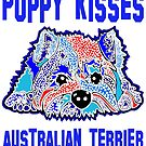 Australian Terrier Puppy Kisses Puppies Dog Dogs Jackie Carpenter Art Terriers Pet Owner Lover Gift Idea's Best Seller Mom by Jackie Carpenter