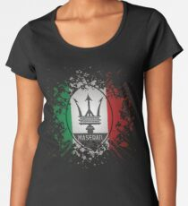 Camiseta premium para mujer MASERATI