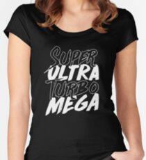 Super Ultra Turbo Mega Women's Fitted Scoop T-Shirt