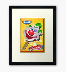 Killer Klown Popsicle Framed Print
