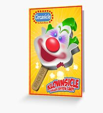 Killer Klown Popsicle Greeting Card