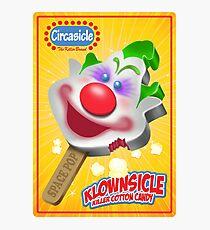 Killer Klown Popsicle Photographic Print