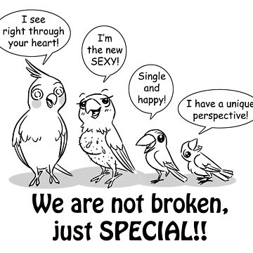 Special need birds by lifewithbirds