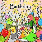 Lovebird budgie cockatiel parrotlet happy birthday by lifewithbirds