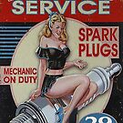 Vintage Dependable Service sign by thatstickerguy
