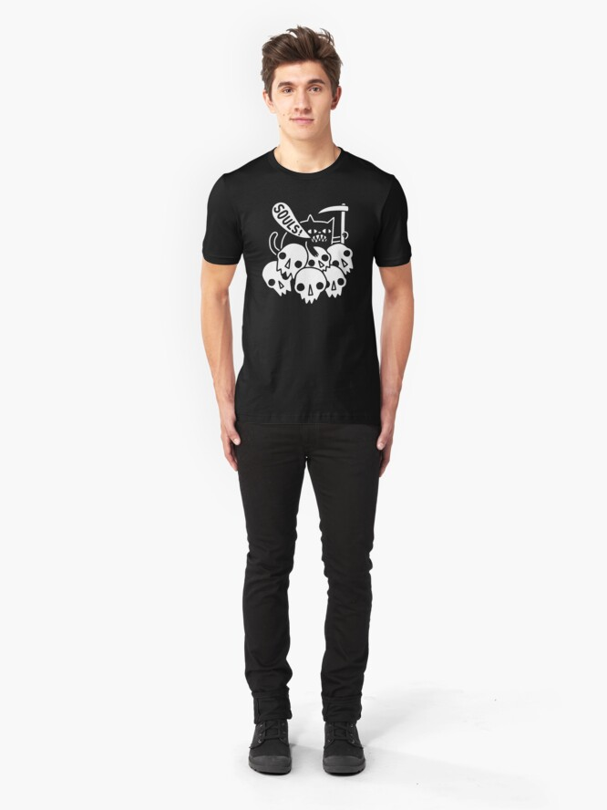 Alternate view of Cat Got Your Soul? Slim Fit T-Shirt