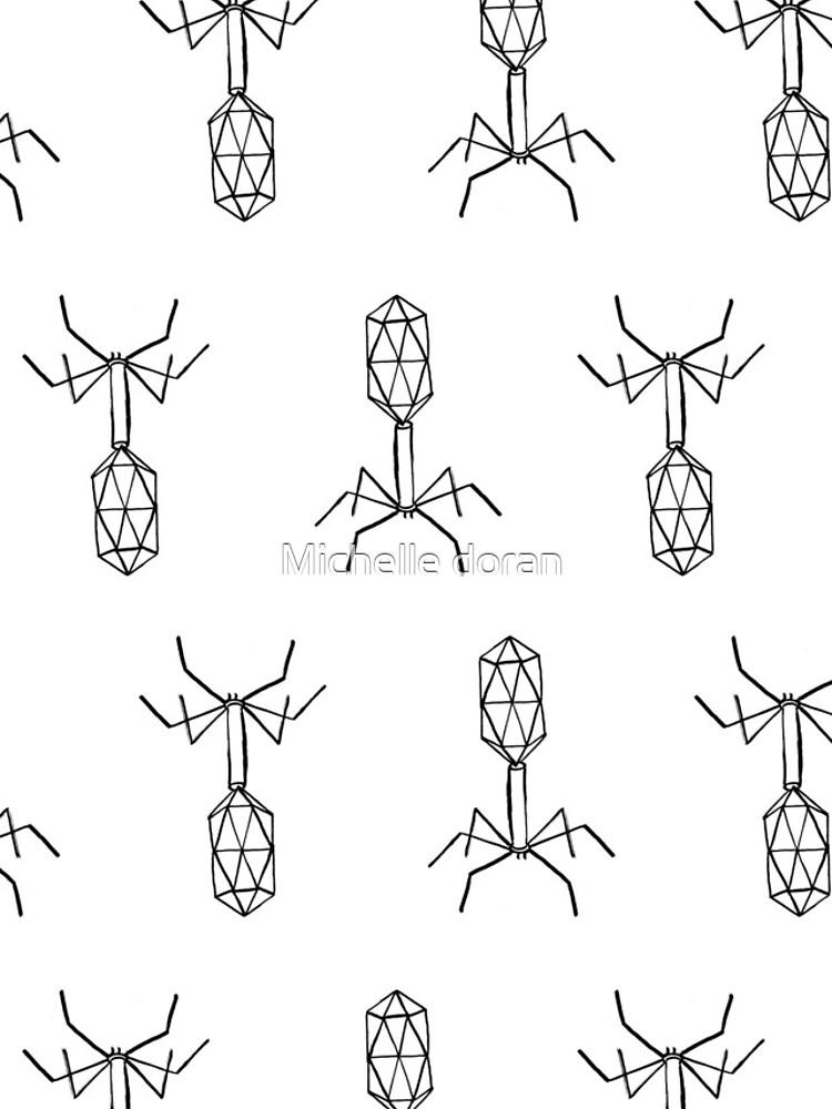 minimalist virus pattern by michellelobelia