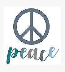 Peace- The symbol of peace Photographic Print