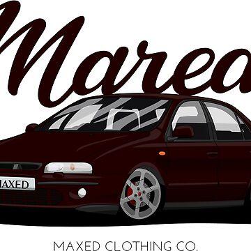 Marea Vehicle 5 Cylinder Engine Automotive Vector Art by monstta