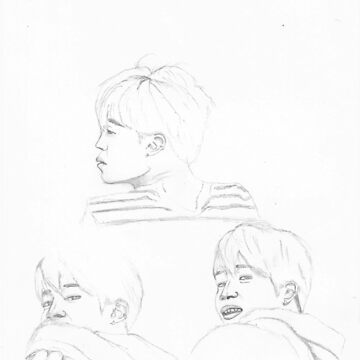 Park Jimin Sketches by fayeemily